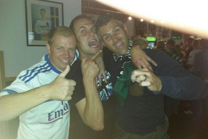 Met de gasten van HSV in het Fanhaus