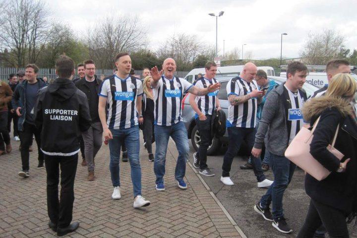 Fans van de tegenstander